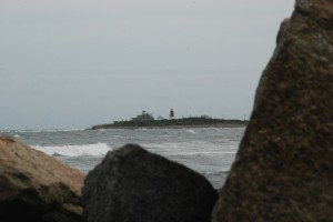 Point Judith Light across a hidden pocket beach...we CAN get there!